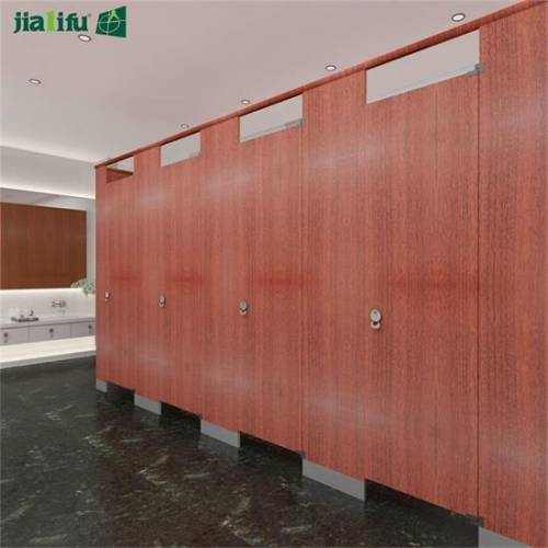 wood grain toilet partition